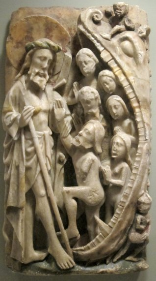 'Harrowing_of_Hell',_15th_century_English_alabaster_relief_with_traces_of_poychrome_and_gilding